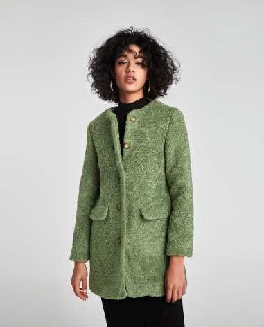 Zara Colored Faux Fur Coat